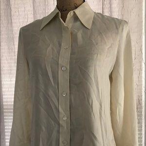 Small 100% Silk Button Down Blouse Shirt